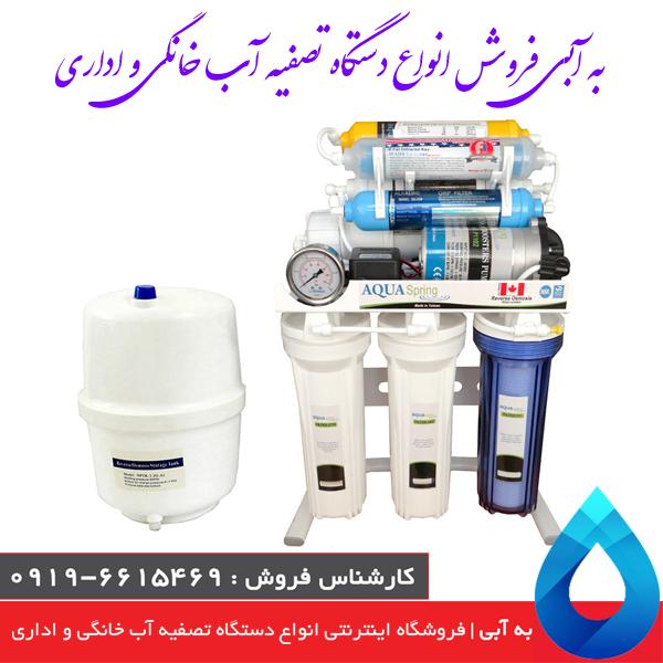 دستگاه: تصفیه آب با روش اسمز معکوس آکوآ اسپرینگ
