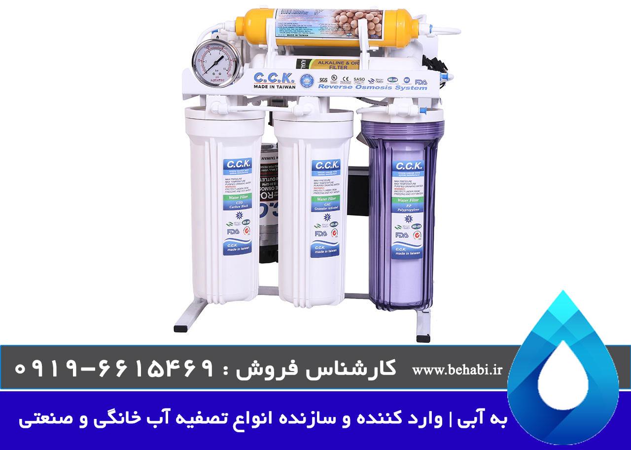 تصفیه آب خانگی اسمز معکوس RO و قلیایی کننده آب ORP
