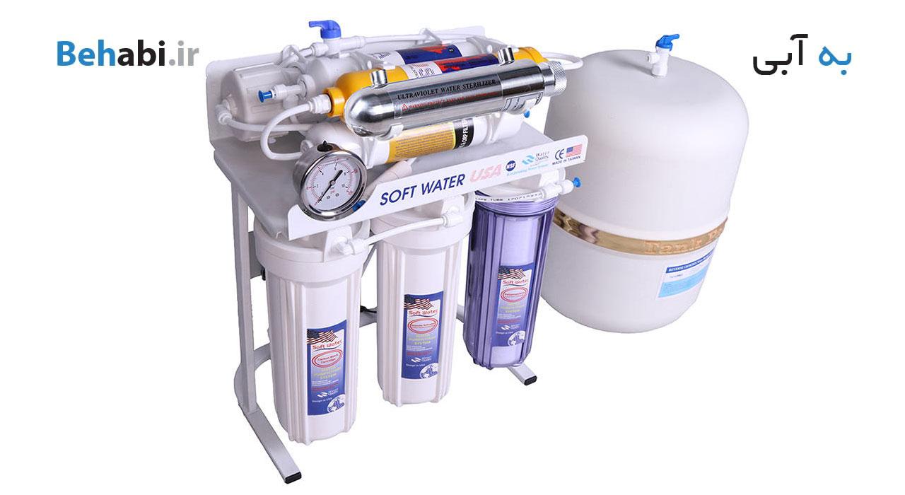 دستگاه تصفیه آب خانگی سافت واتر مدل RO8 ORP UV