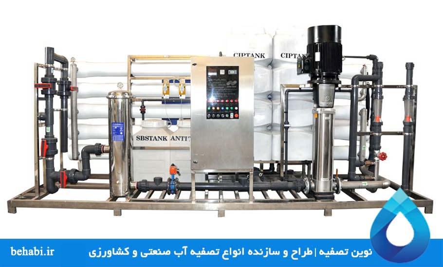 نوین تصفیه طراح و سازنده انواع دستگاه تصفیه آب صنعتی