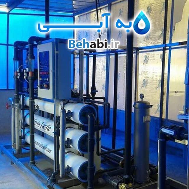 دستگاه تصفیه آب صنعتی با ظرفیت 15000 لیتر